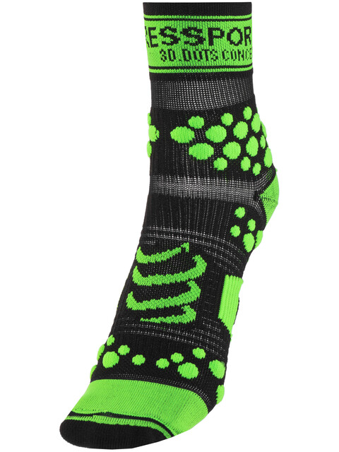 Compressport Racing V2 Trail - Calcetines Running - verde/negro